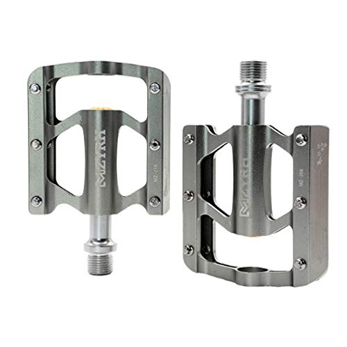 Road Mountain Bike Platform Pedals Wide Flat MTB Aluminum Sealed Bearing 9//16/'/'